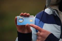 Tarjeta de crédito ártica imágenes de archivo libres de regalías