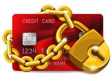 Tarjeta de crédito bajo protección Foto de archivo libre de regalías