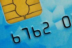 Tarjeta de crédito con el microprocesador imagen de archivo