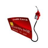 Tarjeta de crédito con la bomba de gasolina Foto de archivo libre de regalías
