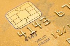 Tarjeta de crédito de oro Foto de archivo libre de regalías