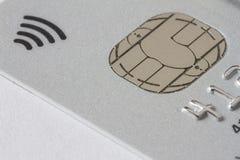 Tarjeta de crédito de plata Foto de archivo libre de regalías