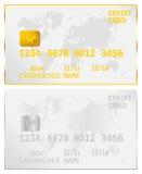 Tarjeta de crédito del oro y de la plata Fotos de archivo