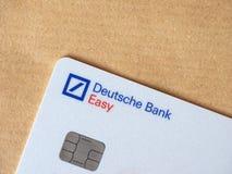 Tarjeta de crédito de Deutsche Bank foto de archivo libre de regalías
