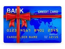 Tarjeta de crédito en blanco Imagen de archivo