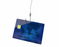 Tarjeta de crédito en el gancho Fotografía de archivo libre de regalías