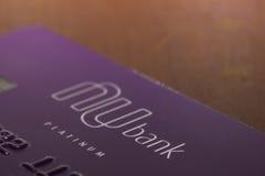 Tarjeta de crédito de Nubank Fotografía de archivo libre de regalías
