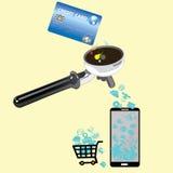 Tarjeta de crédito para la tecnología Imágenes de archivo libres de regalías