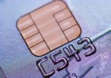 Tarjeta de crédito segura del microprocesador, seguridad del banco Imagen de archivo