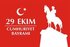 Tarjeta de Cumhuriyet Bayramı Foto de archivo