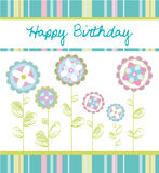 Tarjeta de cumpleaños ilustración del vector