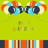 Tarjeta de cumpleaños imagen de archivo libre de regalías