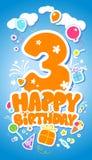 Tarjeta de cumpleaños. stock de ilustración