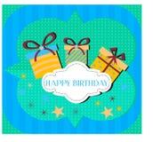 Tarjeta de cumpleaños Fotografía de archivo