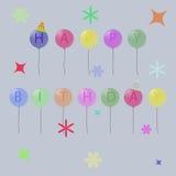 Tarjeta de cumpleaños Imágenes de archivo libres de regalías