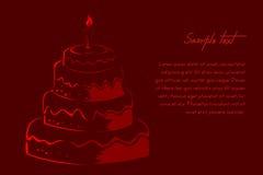 Tarjeta de cumpleaños abstracta Foto de archivo libre de regalías
