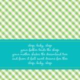 Tarjeta de cumpleaños con arrullo del bebé Imagen de archivo libre de regalías