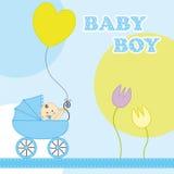 Tarjeta de cumpleaños del bebé Imágenes de archivo libres de regalías