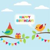 Tarjeta de cumpleaños del vector Fotos de archivo libres de regalías
