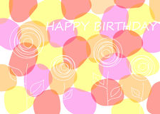 Tarjeta de cumpleaños del vector Fotografía de archivo libre de regalías