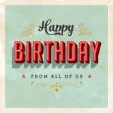 Tarjeta de cumpleaños del vintage stock de ilustración
