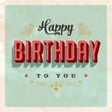 Tarjeta de cumpleaños del vintage ilustración del vector