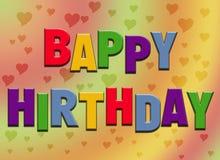 Tarjeta de cumpleaños divertida Imágenes de archivo libres de regalías