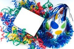 Tarjeta de cumpleaños en blanco Imágenes de archivo libres de regalías