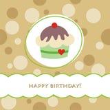Tarjeta de cumpleaños Fotografía de archivo libre de regalías