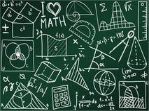 Tarjeta de escuela de la matemáticas Foto de archivo