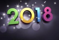Tarjeta de felicitación 2018 Foto de archivo libre de regalías
