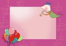Tarjeta de felicitación Foto de archivo libre de regalías