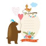 Tarjeta de felicitación Fotografía de archivo libre de regalías