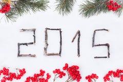 Tarjeta de felicitación 2015 Imágenes de archivo libres de regalías