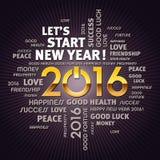 Tarjeta 2016 de felicitación Fotografía de archivo libre de regalías