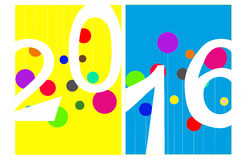 Tarjeta de felicitación 2016 ilustración del vector