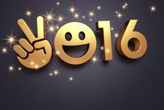 Tarjeta 2016 de felicitación Imagen de archivo libre de regalías