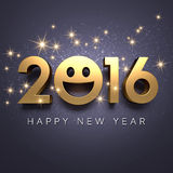 Tarjeta 2016 de felicitación Foto de archivo