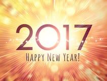 tarjeta 2017 de felicitación Foto de archivo libre de regalías