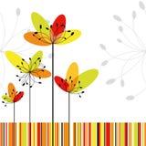 Tarjeta de felicitación abstracta de la flor de la primavera Fotografía de archivo
