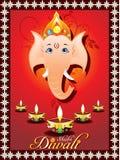 Tarjeta de felicitación abstracta del diwali