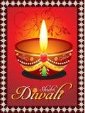 Tarjeta de felicitación abstracta del diwali con floral ilustración del vector