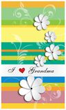 Tarjeta de felicitación adornada con las flores Fotografía de archivo libre de regalías