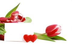 Tarjeta de felicitación al día de tarjeta del día de San Valentín del St. Fotografía de archivo libre de regalías