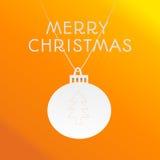 Tarjeta de felicitación anaranjada Fotografía de archivo libre de regalías