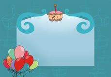 Tarjeta de felicitación azul Fotografía de archivo libre de regalías