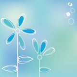 Tarjeta de felicitación azul Imagen de archivo libre de regalías
