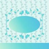 Tarjeta de felicitación azul con el marco libre illustration