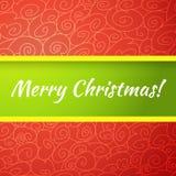 Tarjeta de felicitación brillante excelente de la Feliz Navidad. Fotos de archivo libres de regalías