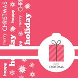 Tarjeta de felicitación brillante de la Navidad, fondo, cartel en estilo minimalista Ejemplo del vector para la colección del día fotos de archivo